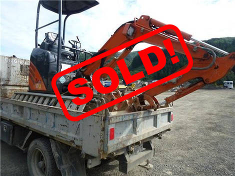 Hitachi ZX17U-2 MINI EXCAVATOR 2014