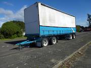 Steelbro SB28 4 AXLE CURTAINSIDER PULL TRA... 1986